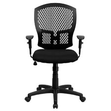 <strong>Flash Furniture</strong> Mid-Back Designer Back Task Chair with Padded Seat