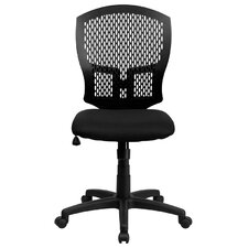 Mid-Back Designer Back Task Chair with Padded Seat