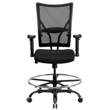 Hercules Series Mesh Drafting Stool with Arms