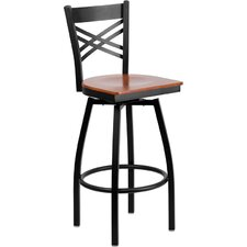 "Hercules Series ""X"" Back Swivel Bar Stool"
