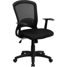 <strong>Flash Furniture</strong> Mid-Back Mesh Chair with Padded Seat