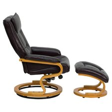 Contemporary Recliner and Ottoman