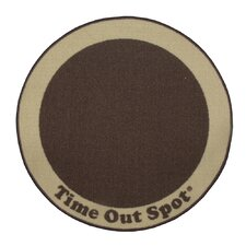 Time Out Spot Brown Kids Rug