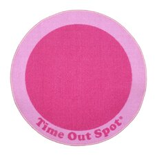 Time Out Spot Pink Kids Rug