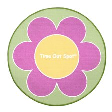 Time Out Spot Flower Kids Rug
