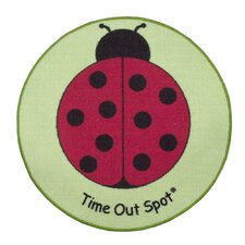 Time Out Spot Lady Bug Kids Rug