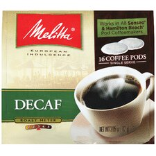 Medium Roast Decaffeinated Soft Pod Coffee (Pack of 16)