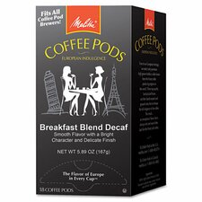 Melitta One 18 Pods Breakfast Blend Decaf Coffee Pods