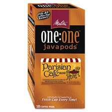 Parisian Café One Coffee Pods, 18 Pods/Box