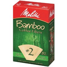 80 Count Bamboo Filters (Set of 2)