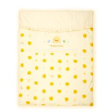 Four Piece Cradle Bedding Set in Yellow