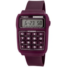 Unisex Calculator Multi-Function Rectangular Watch
