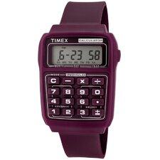 Unisex Calculator Multi-Function Rectangular Watch
