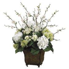 Hydrangea/Blossom in Ceramic Urn