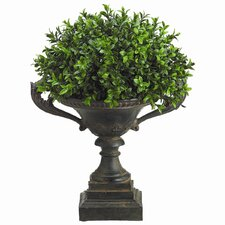 <strong>Tori Home</strong> Boxwood Dome Floor Plant in Urn