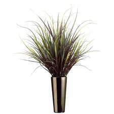 Yucca Grass in Round Tapered Ceramic Decorative Vase