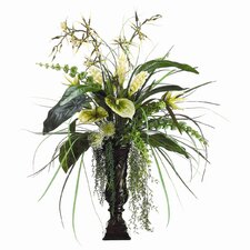 Tropical in Resin Leaf Urn