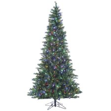 Mixed 7.5' Green Pine Artificial Christmas Tree with 500 LED Lights with Stand