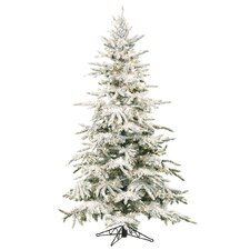 7.5' White Mountain Pine Artificial Christmas Tree with 550 Clear Lights with Stand
