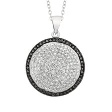 Sterling Silver Micro-Set 209 Cubic Zirconium Round Necklaces