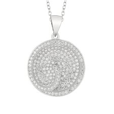 Sterling Silver Micro-Set Cubic Zirconium Round Necklaces