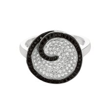 Sterling Silver Micro-Set 137 Cubic Zirconium Round Fashion Ring
