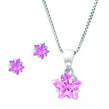 Sterling Silver Star Cubic Zirconia Jewelry Set