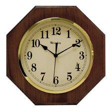 """10"""" Wood Octagon Wall Clock"""