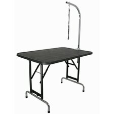 Pet Grooming Table with Adjustable Folding Legs