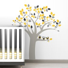 <strong>LittleLion Studio</strong> Trees Owl Wall Decal