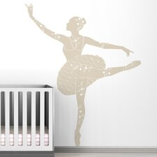 <strong>LittleLion Studio</strong> Black Label Ballerina Wall Decal