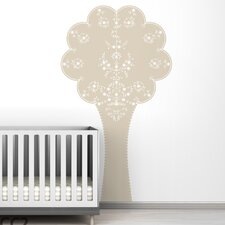 Black Label Vineyard Tree Wall Decal