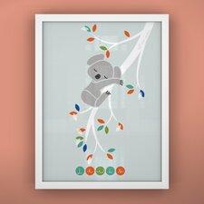 Print Sleepy Koala Framed Art