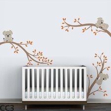Koala Tree Branches Wall Decal