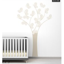 Butterfly Tree Black Label Wall Decal