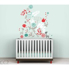 Color Block Botanical Garden and Little Friends Wall Decal