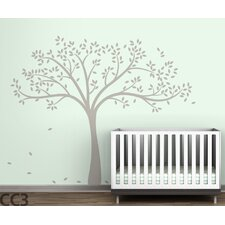 Monochromatic Fall Tree Wall Decal