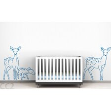 <strong>LittleLion Studio</strong> Fauna Deer Family Outline Wall Decal