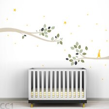 <strong>LittleLion Studio</strong> Tree Branches Follow the Little Rabbit Wall Decal