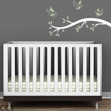 Tree Branches Polka Dot Birds Wall Decal