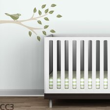 Floral Bird Branch Wall Decal
