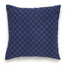 Shibori Embroidered and Crinkled Decorative Pillow