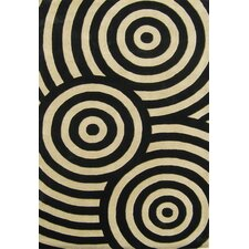 Alliyah Black/Beige Geometric Rug