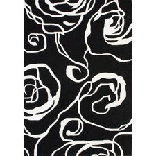 New Delhi Geometric Ivory/Black Rug