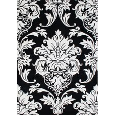 New Casanova Off-White/Black Geometric Rug