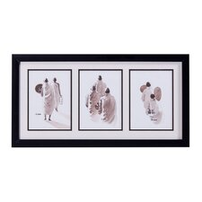 Three Monks Framed Original Painting