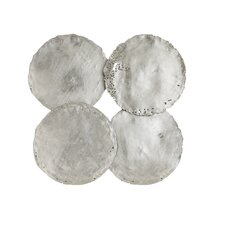 Galvanized Circle Wall Décor (Set of 4)