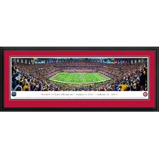 NCAA BCS Football Championship 2012 Deluxe Framed Photographic Print