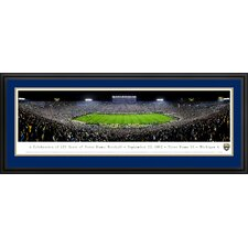 <strong>Blakeway Worldwide Panoramas, Inc</strong> NCAA University of Notre Dame - 125 Night Deluxe Frame Panorama