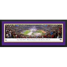 NFL Super Bowl 2013 by Christopher Gjevre Framed Photographic Print